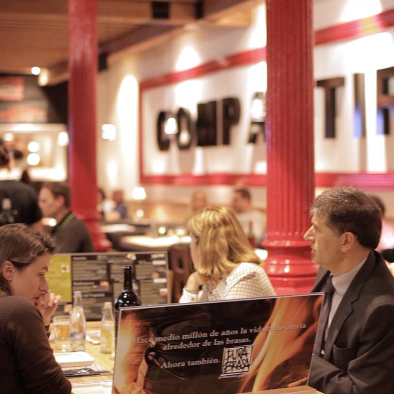 Brasería restaurante en La Rambla de Barcelona