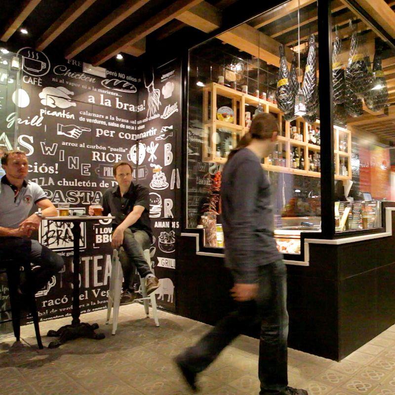 Restaurante Pura Brasa en La Rambla de Barcelona