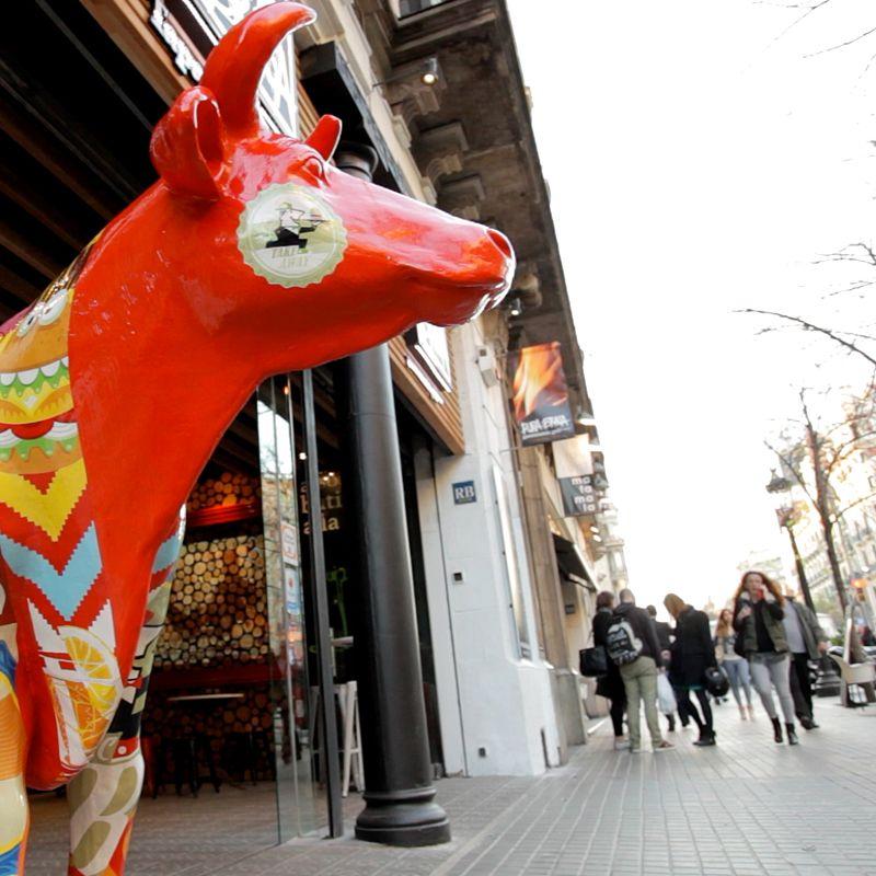 Brasería en La Rambla de Barcelona