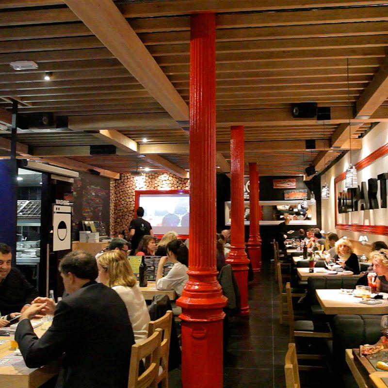 Restaurante brasería en Rambla de Barcelona