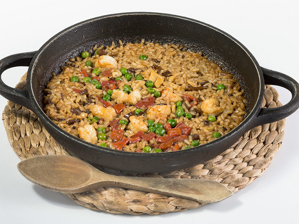 Arroz al carbón