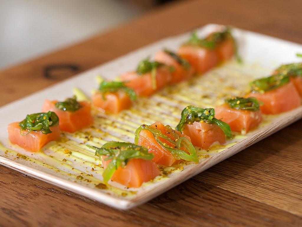 Tataki de salmón